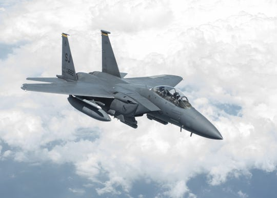 The F-15 Eagle is an American twin-engined, all-weather tactical fighter aircraft.
