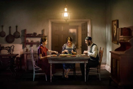 """""""The Potato Eaters"""" from art photographer Richard Tuschman's """"Once Upon a Time in Kazimeirz"""" collection is part of the new fall exhibit at MTSU's Baldwin Photographic Gallery through Sept. 28"""