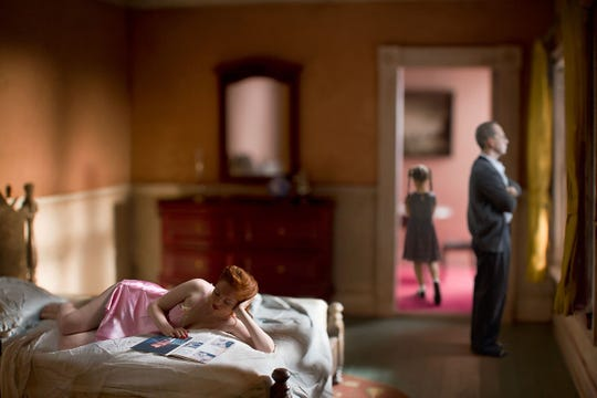"""""""Pink Bedroom (Family)"""" from art photographer Richard Tuschman's """"Hopper Meditations"""" collection is part of the new fall exhibit at MTSU's Baldwin Photographic Gallery through Sept. 28."""