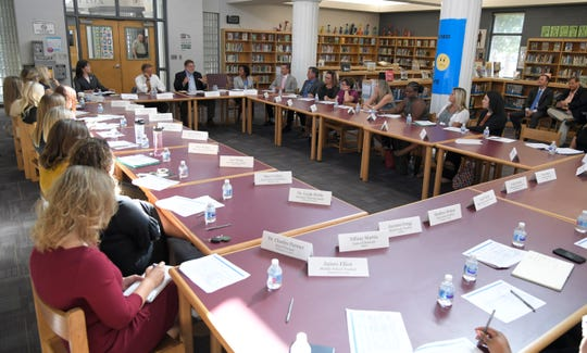 Tennessee Gov. Bill Haslam attended the fourth listening tour roundtable discussion on the delivery of the TNReady assessment at Freedom Middle School in Franklin on Sept. 4, 2018.