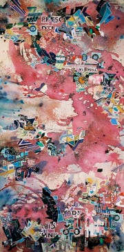 """Eric Mack, """"MTB-4276,"""" 2009, mixed media on canvas, 72""""x36""""."""