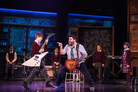 The cast of the School of Rock Tour.