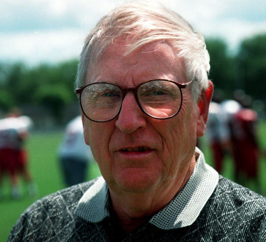 Herschel Moore, the Cumberland football coach, in 1997.