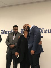 People hear from Tyler Perry about an update in connection to the disappearance of two Collier County men inside the community room at Naples Daily News Sept. 4, 2018.