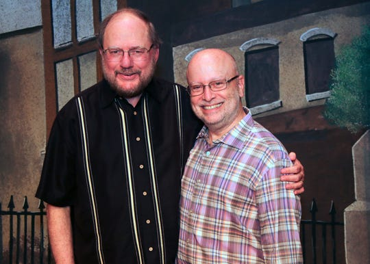 Rupert Holmes with director of The Mystery of Edwin Drood at Bergen County Players, Steve Bell.