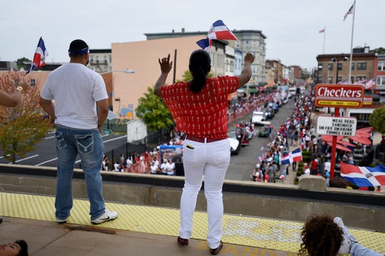 Paterson police officials expect this year's Dominican Parade to attract more than 20,000 people. Police will once again have a large presence at the event. A scene from the 2016 parade.