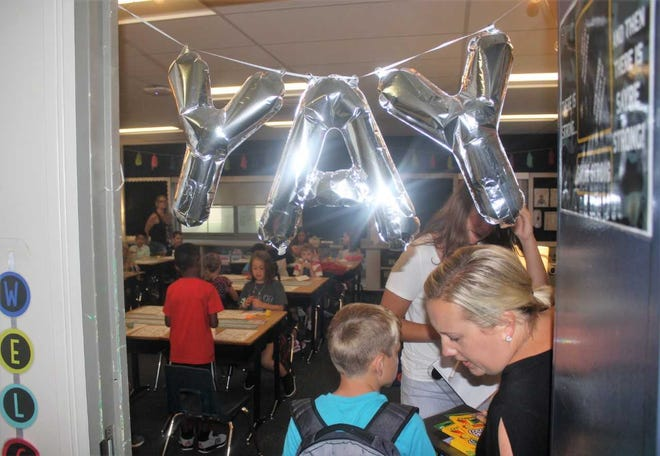 The first day of school at Sayre Elementary School in South Lyon in 2018 looks a lot different than what the first day in the building will look like when kids finally head in on Oct. 12, 2020.