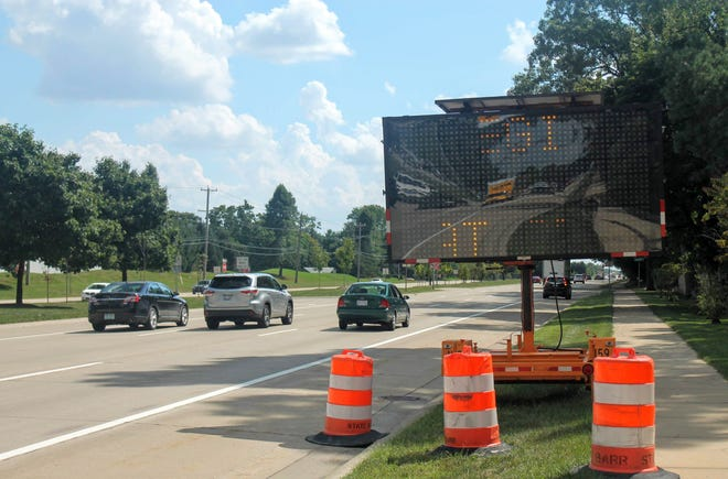 Road construction on Telegraph is expected to last  until about mid-October.