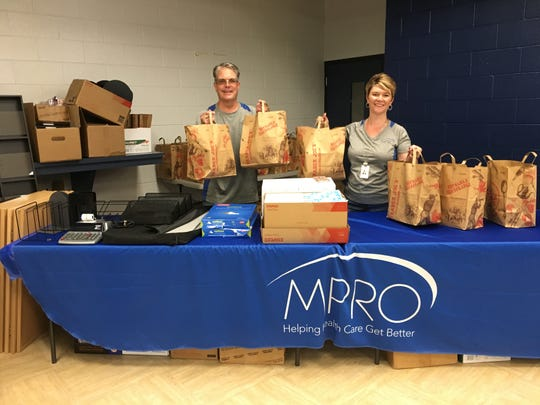 Farmington Hills-based MPRO organized the school supply drive.
