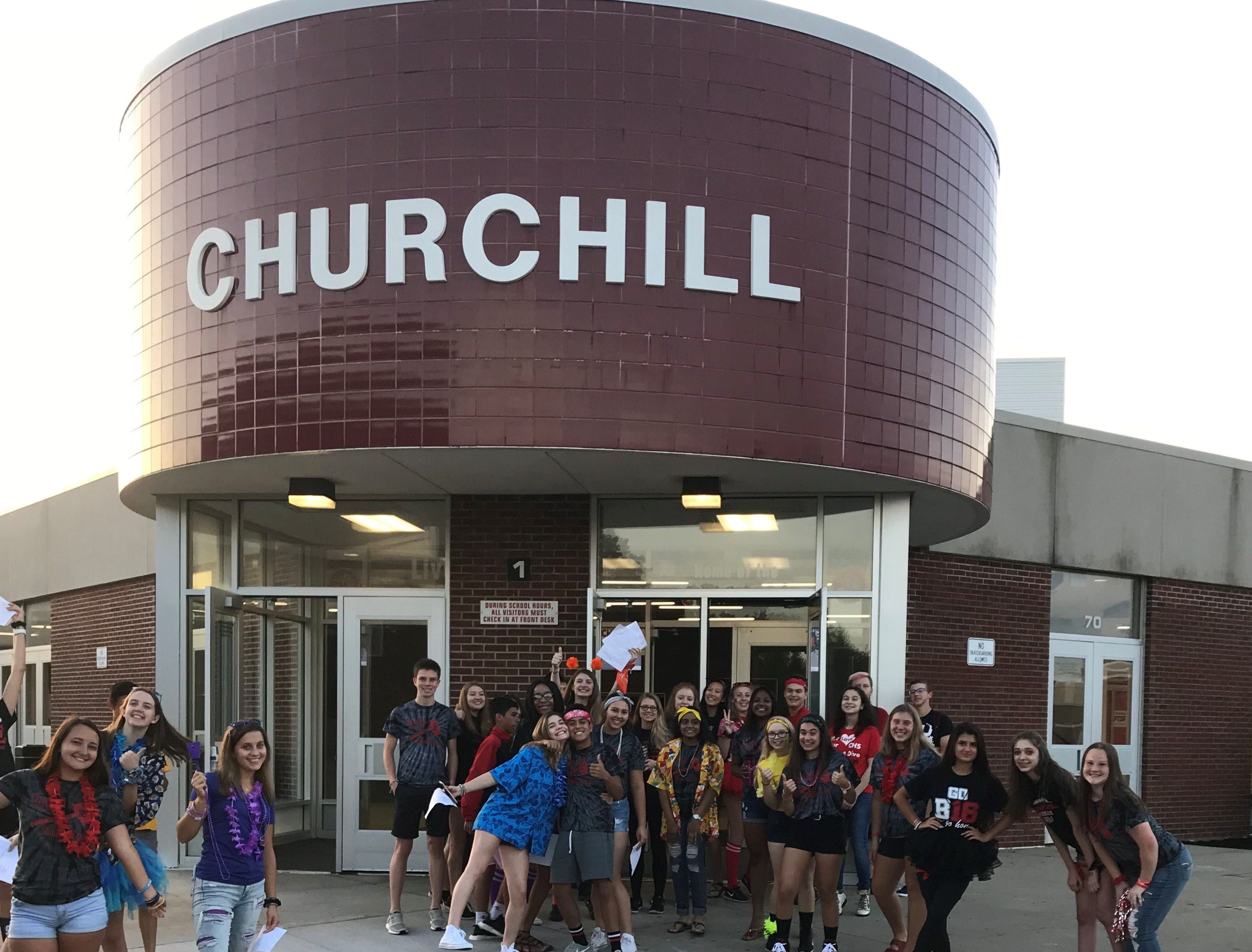 Teachers and students returned to Churchill High School in Livonia on the first day of school Tuesday.