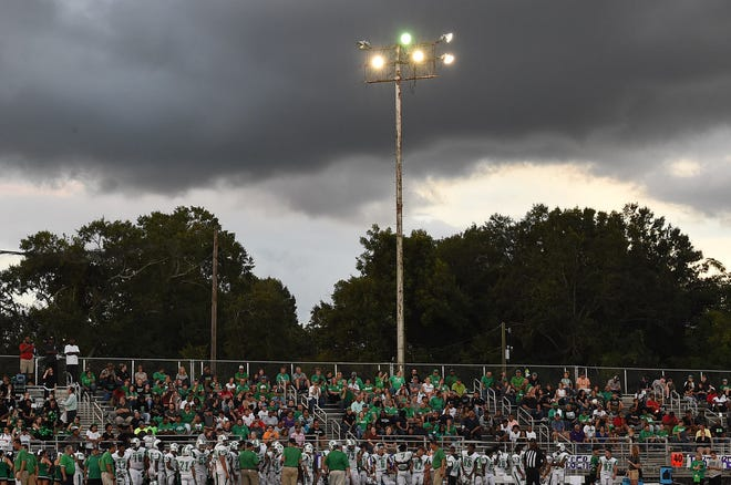 The lights at Donald Gardner Stadium and North City Park are turned on each evening as a safety precaution, according to a city official.