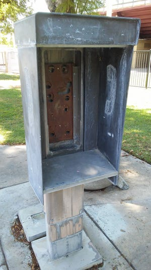 Desert Sun reader Loretta Tremper suggests this pay phone shell might deserve monument status in Palm Springs.