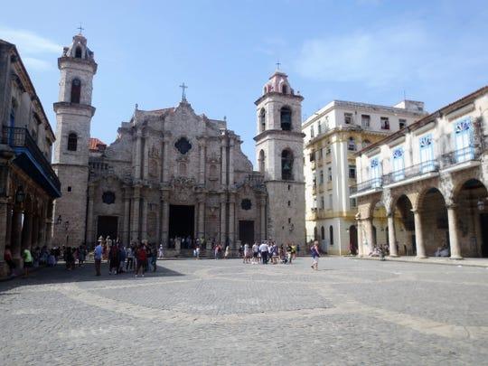 The Plaza de la Catedral in Old Havana.