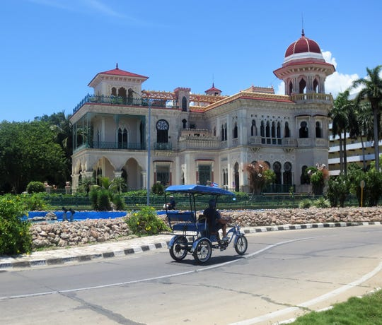 The ornate Valle Palace, built in 1917 in Cienfuegos, Cuba.