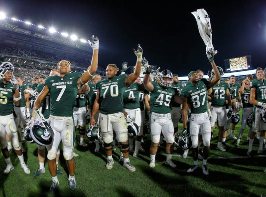 Ncaa Football Utah State At Michigan State