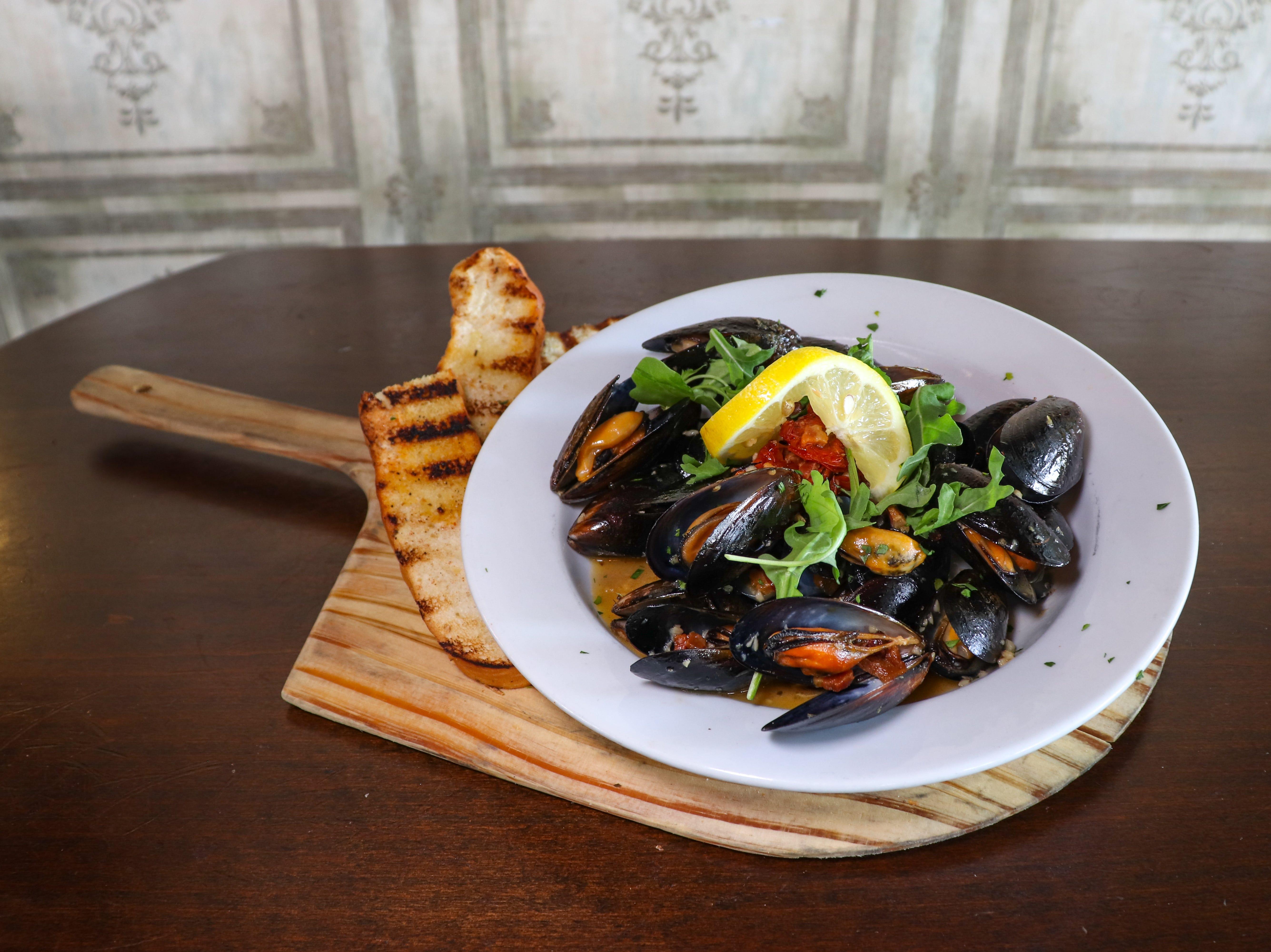 Mussels at Crust Pizzeria and Italian Restaurant.