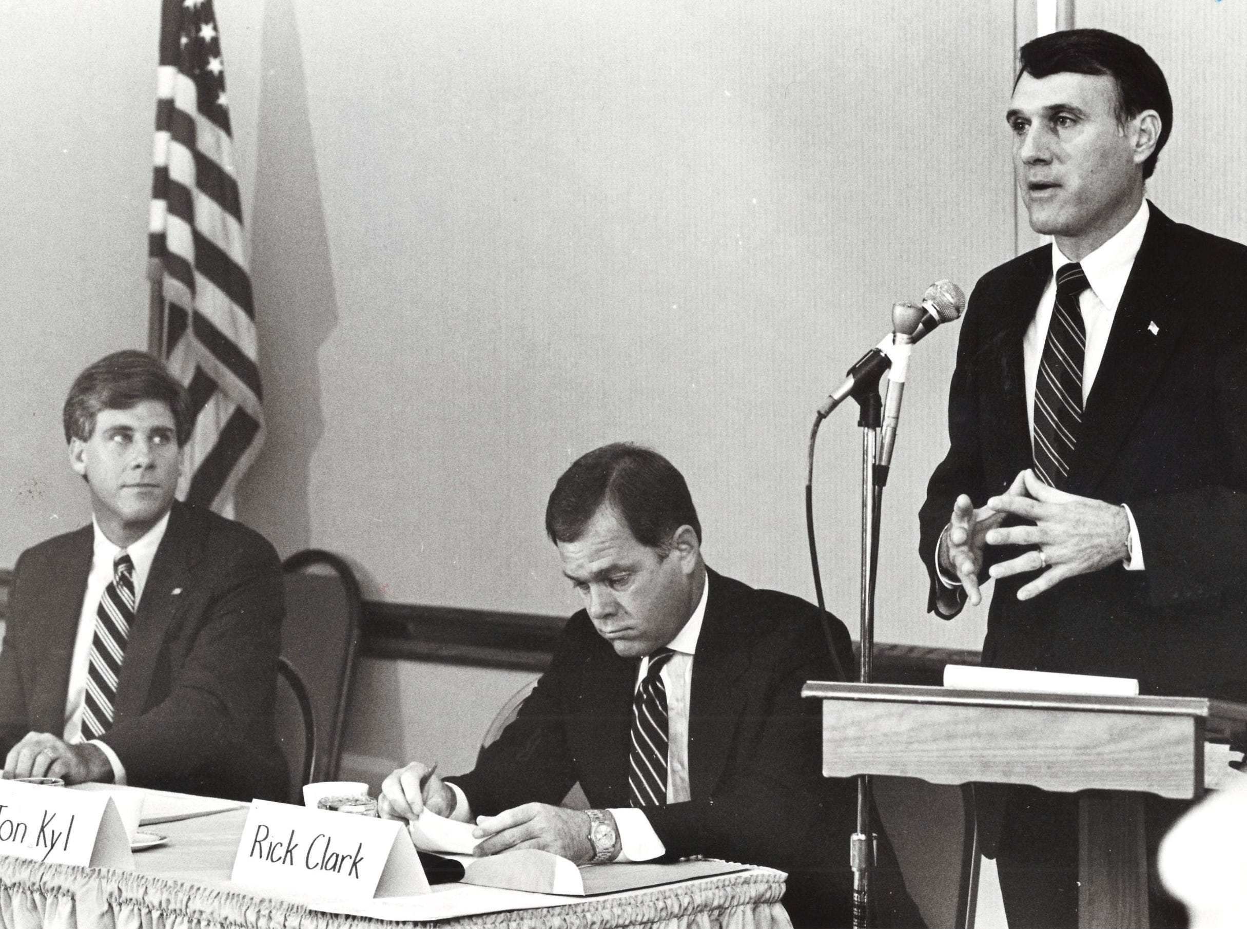 Jon Kyl, candidate for Congressional District 4, Oct. 22, 1986.