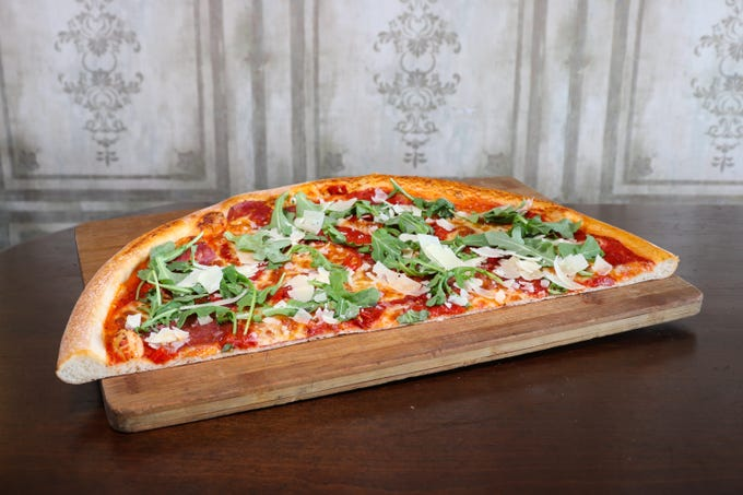 The 20-inch pizza at Crust Pizzeria and Italian Restaurant.