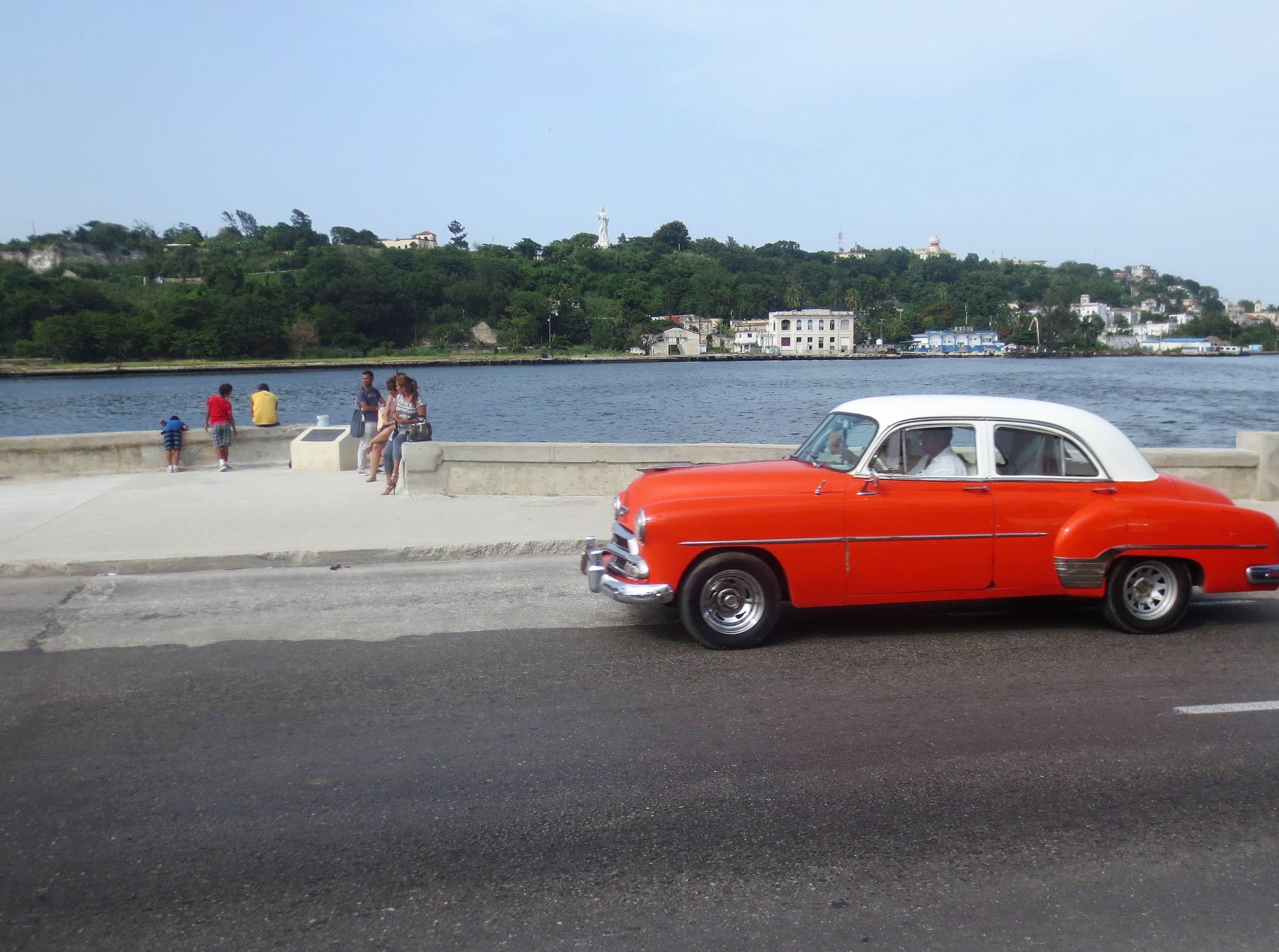 Havana's famous Malecón, a 5-mile seaside promenade.