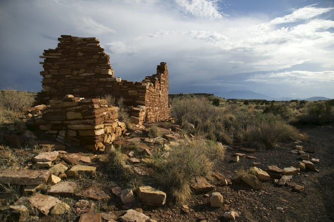 The Box Canyon Dwellings at Wupatki National Monument outside of Flagstaff on Sunday, Sept. 2, 2018.
