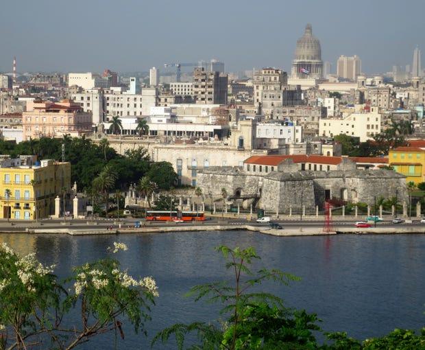 View of Havana, Cuba's capital city.