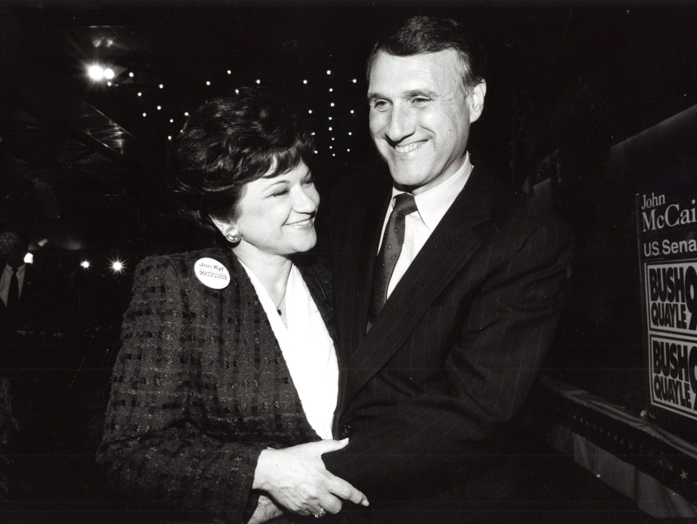 Jon Kyl with his wife Caryll Kyl, Jan. 20, 1993.