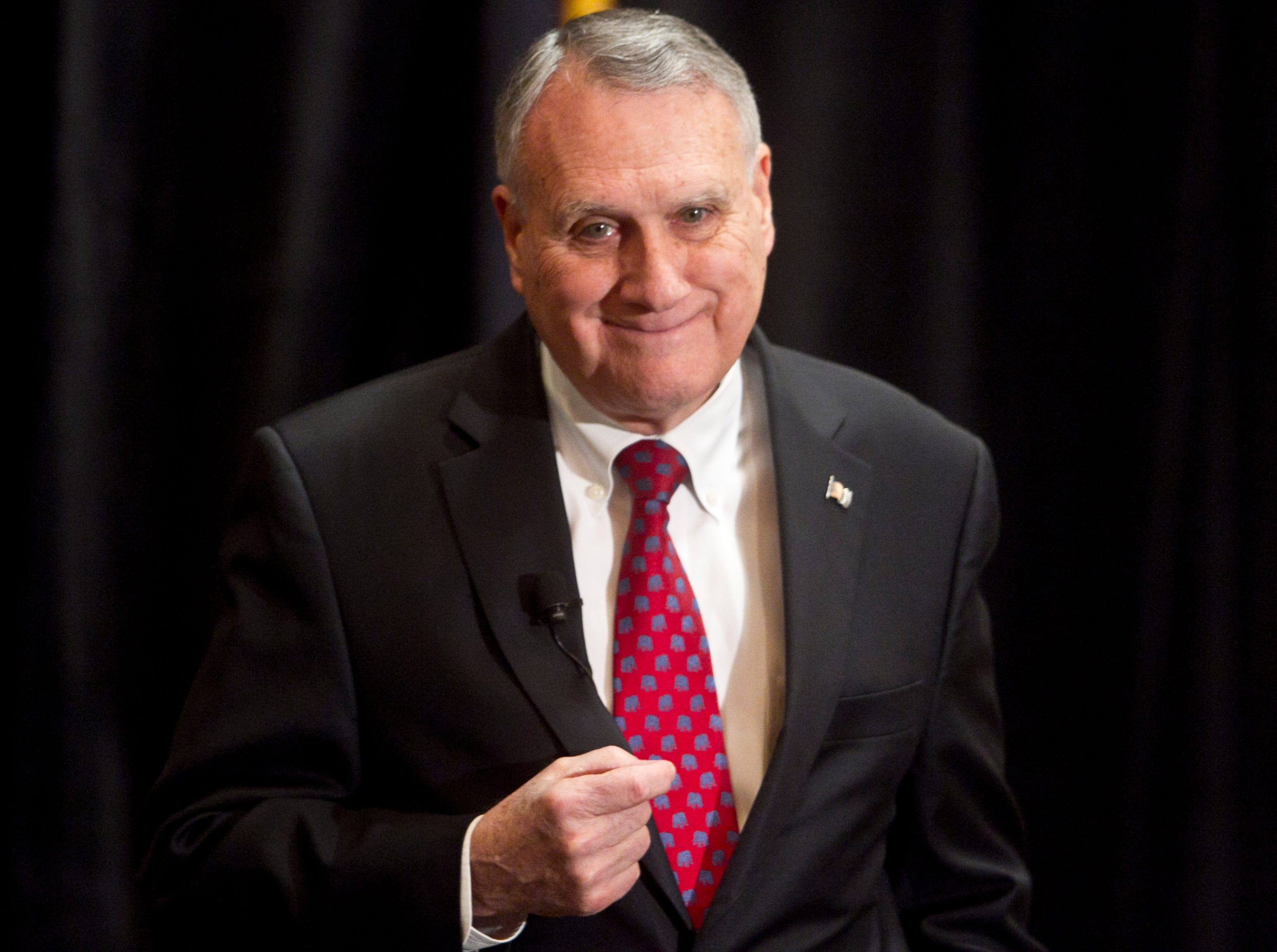 U.S. Senator Jon Kyl explains his decision to not run for another term, Feb. 10, 2011.