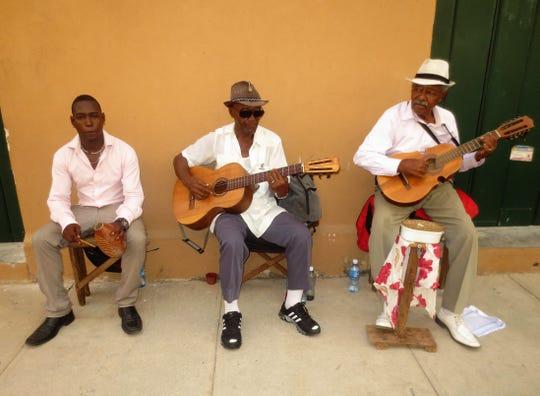 Street musicians in Havana.