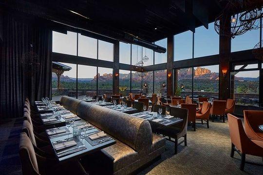 Mariposa Latin Inspired Grill ofrece algunas de las mejores vistas en Sedona para acompañar su excelente comida.