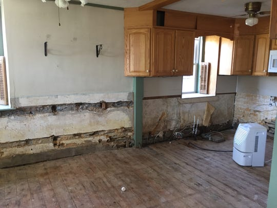 A look inside a Richland residence on Flanagan Road after floodwater wreaked havoc on the first floor.