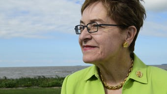 U.S. Rep. Marcy Kaptur, D-Toledo, talks about the effort to improve the Great Lakes.