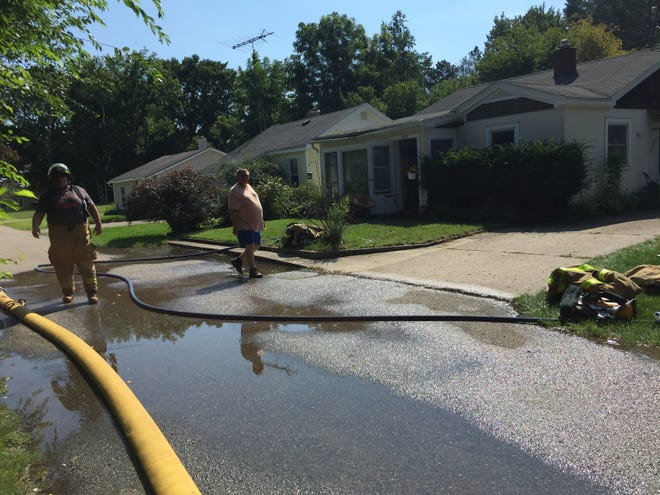 Three cats died in a fire in Lakeport Tuesday.