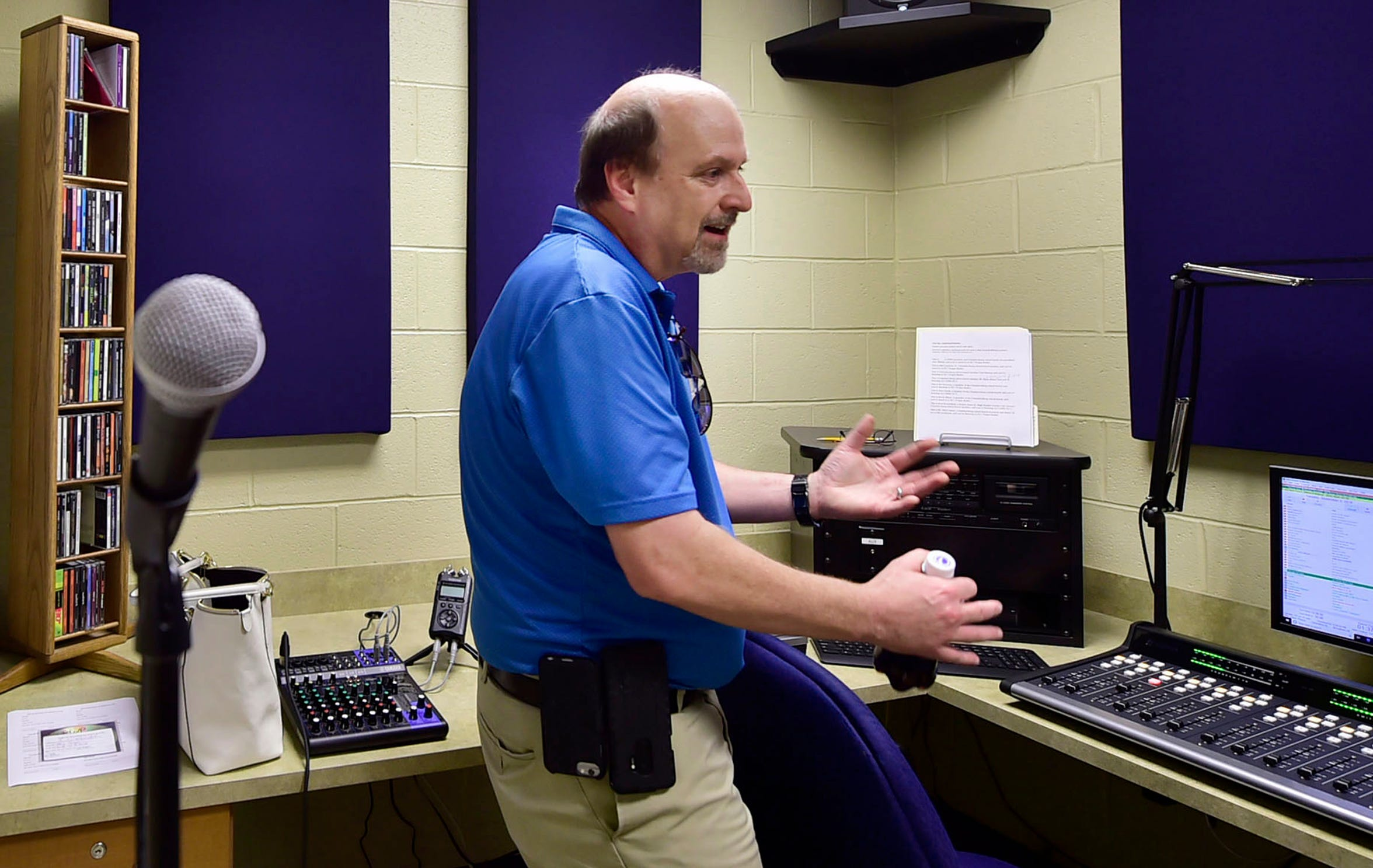 Dave Kirkpatrick, CASD network administrator, talks about the new radio station on Tuesday, Sept. 4, 2018. Chambersburg Area School District started a radio station about 18 months ago. Students are being trained to go on air.