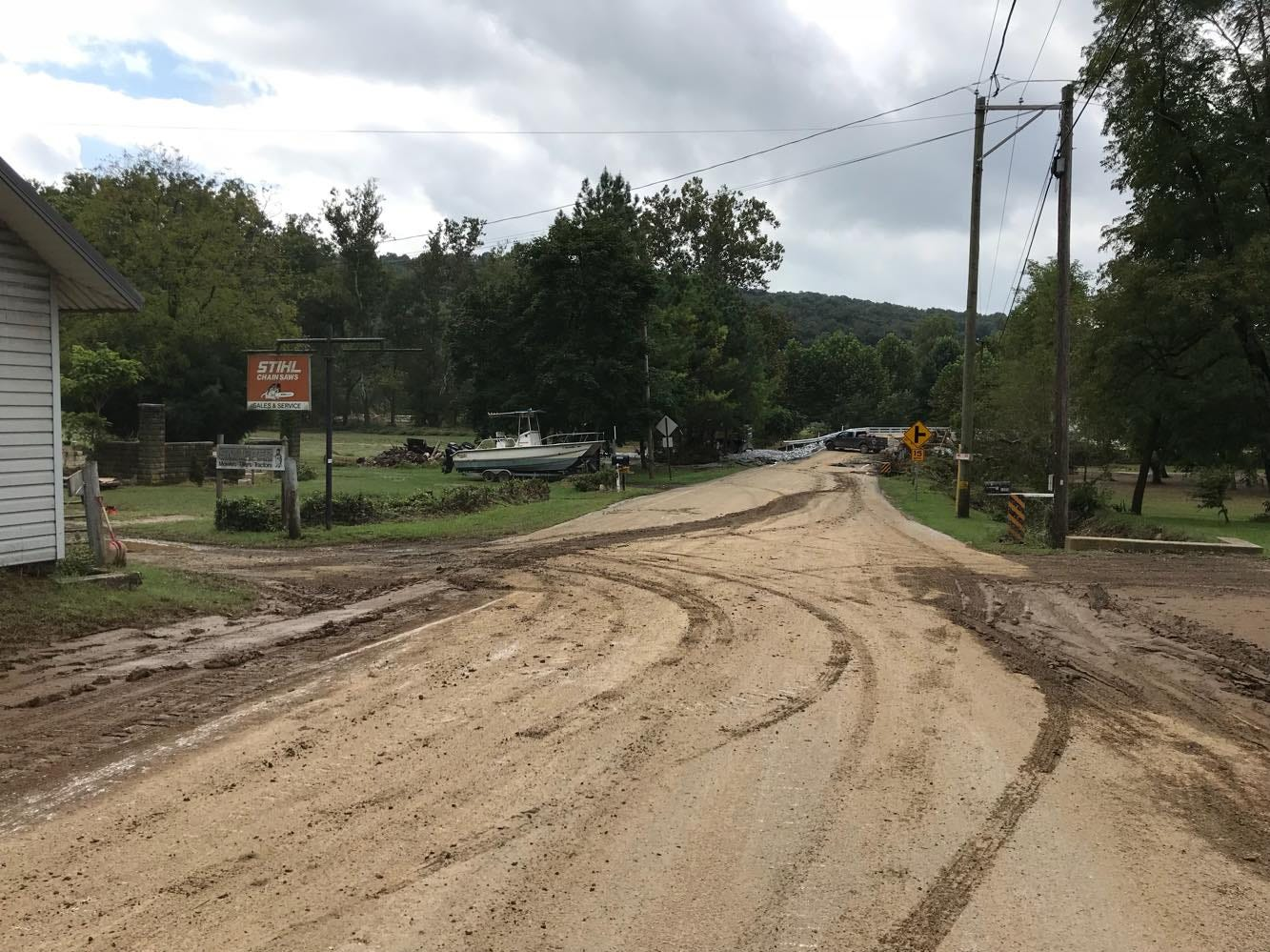 Woodbine Saw Company and the surrounding area along Muddy Creek was hit by flooding from the storm Aug. 31. Photos by Briar Horton.