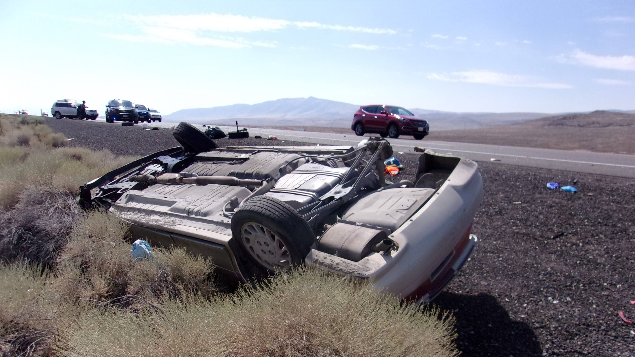 A Lovelock man was killed in a single-vehicle rollover outside Fernley.