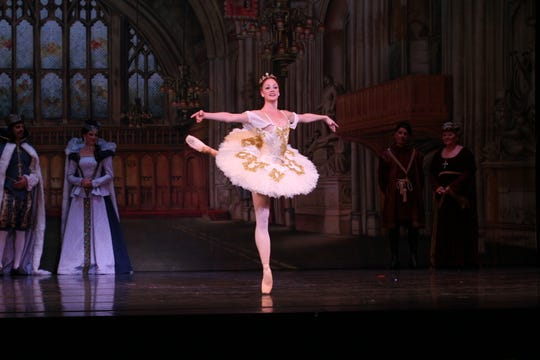 """Kate Crews performs in A.V.A. Ballet's """"Cinderella"""" in 2014."""