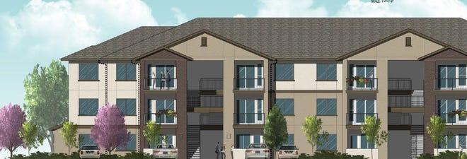 Artist's rendering of Sky Mountain, an affordable-housing project being built in northwest Reno. Developers hope to have it finished in the fall of 2019.