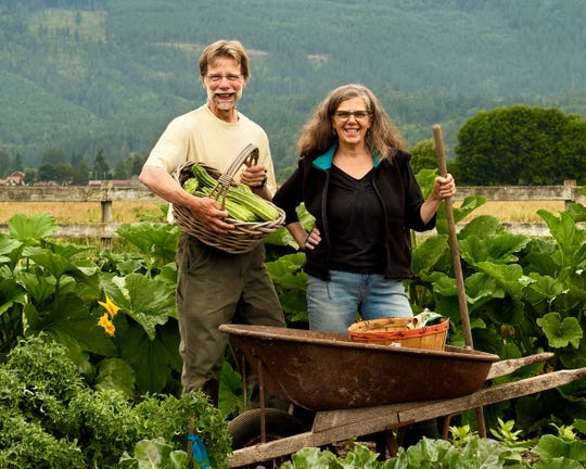 Linda Versage and her husband, Walter Brodie, on their farm in Washington state.