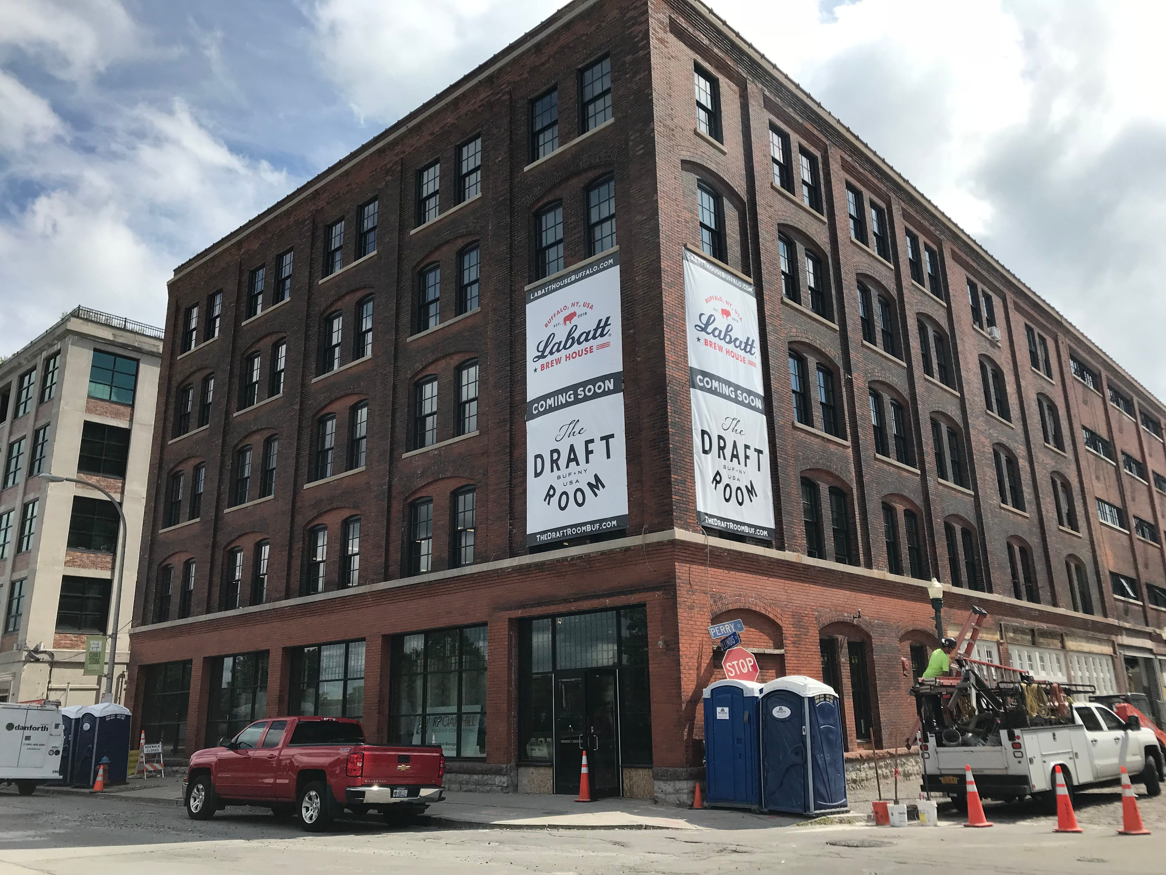The exterior of the soon-to-open Labatt Brew House in Buffalo.