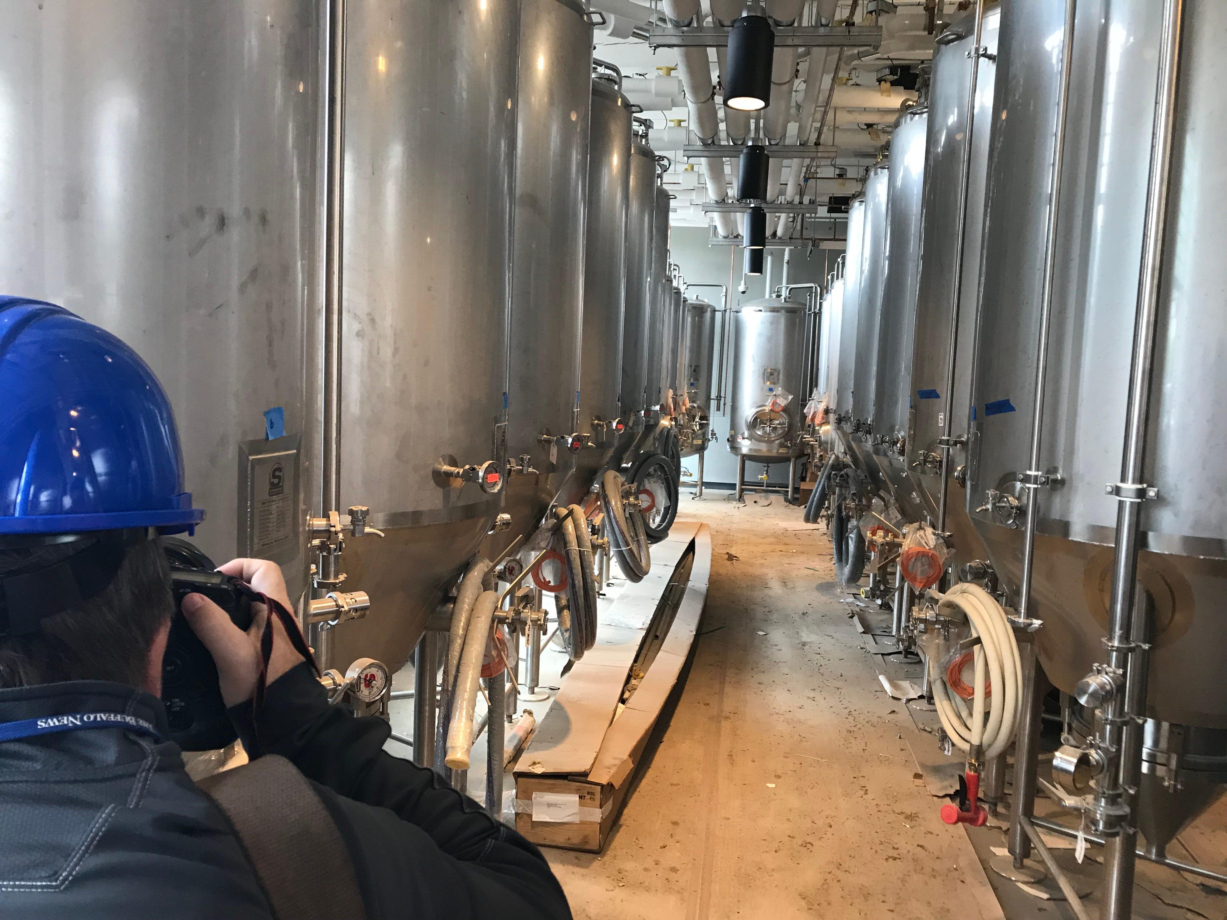 Labatt Brew House fermentation tanks.