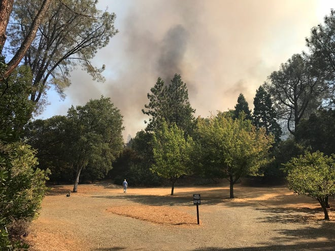 The Ranchera Fire is burning 15 to 20 acres in Shasta Lake.