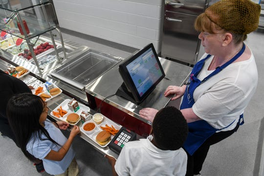 A file photo of a school lunch in a Maryland elementary school.