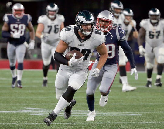 Dallas Goedert caught 33 passes in his first NFL season with the Philadelphia Eagles