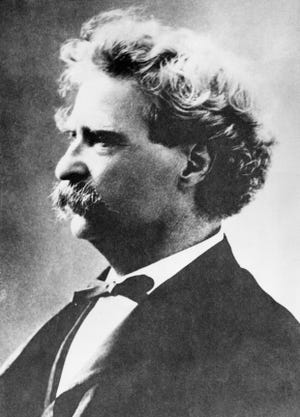 An undated portrait of American author Mark Twain first published by the Associated Press in 1935 on the 100th anniversary of Twain's birth in Missouri.