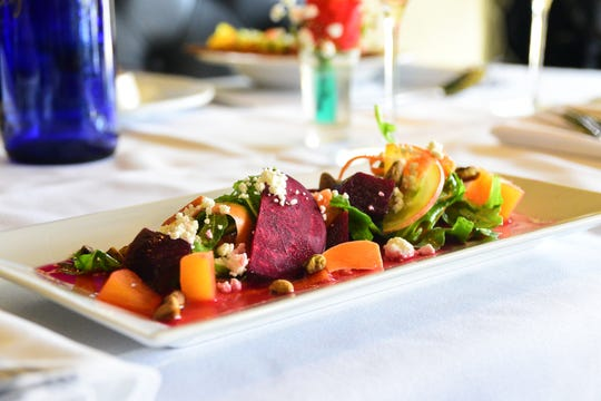 The kitchen staff of Mimi's Table creates dishes you won't find at other bistros. First course items such as the beet salad and summer gazpacho are great appetizers to start off a meal.