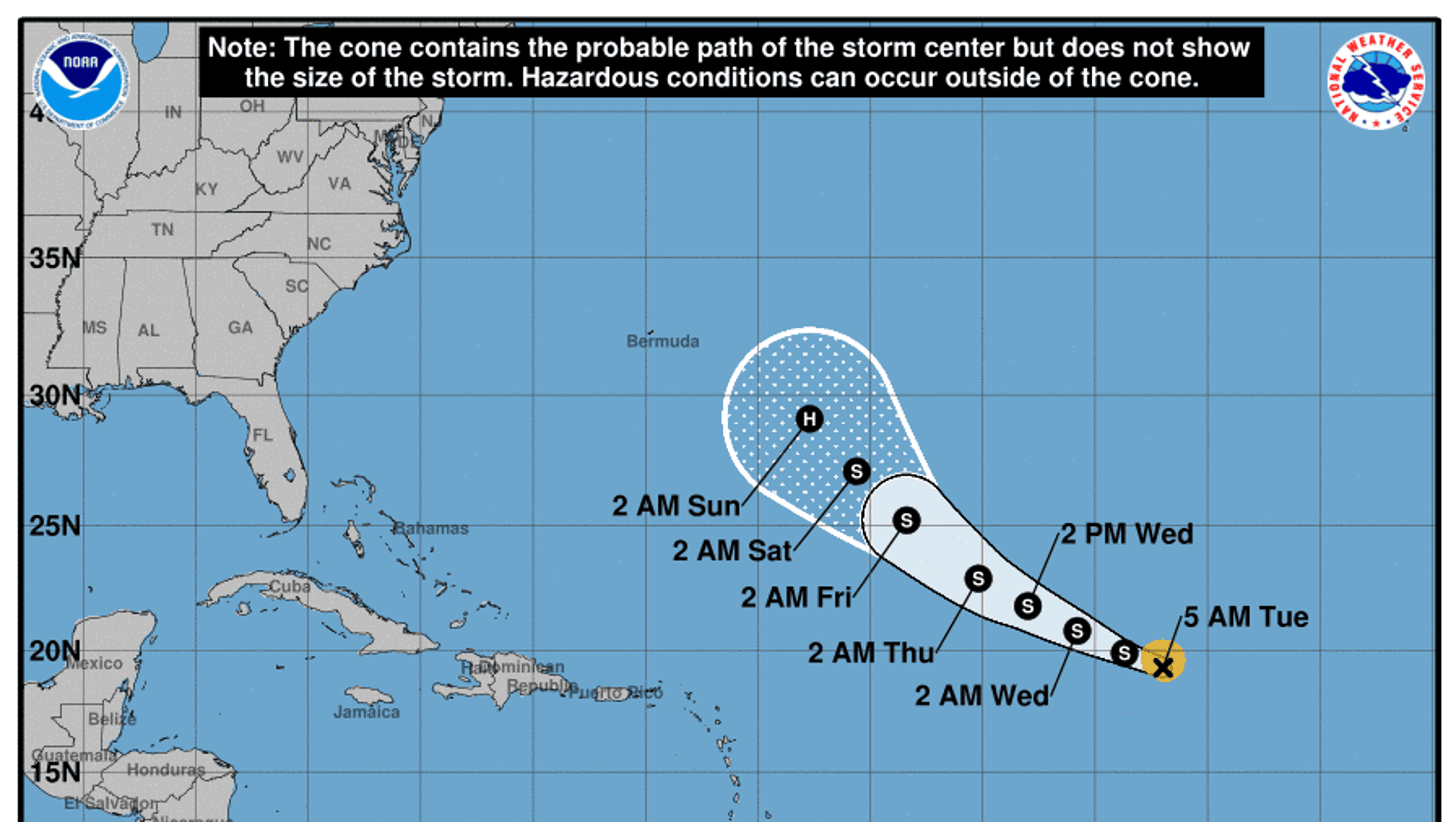 Hurricane Florence max sustained winds increase to 75 mph