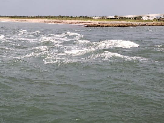 Outgoing tide at Sebastian Inlet, and other inlets on the east coast of Florida, can be treacherous for boaters.