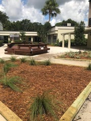 The John Carroll High School courtyard after Phase One of the Courtyard Beautification Project.