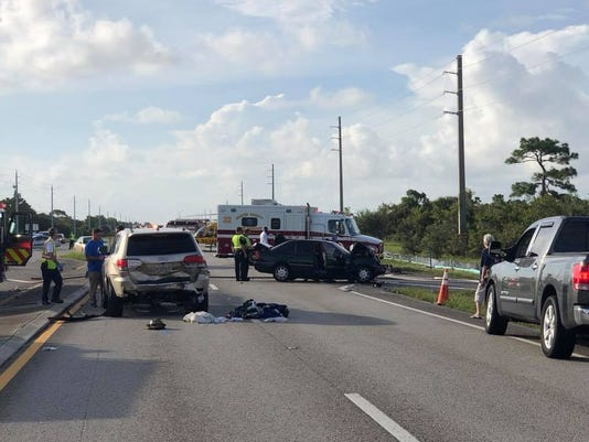 Martin County Fire Rescue airlifted two people to trauma centers Tuesday morning after a car crash