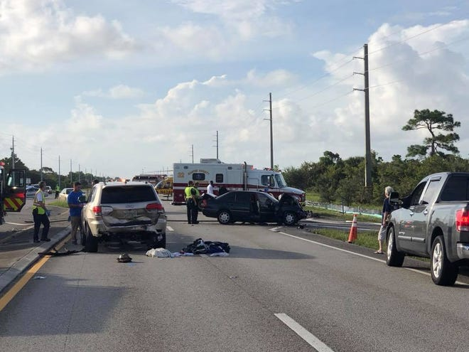 Martin County Fire Rescue airlifted two people to trauma centers Tuesday morning after a car crash.